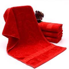 2018新款-批发结婚礼大红色毛巾(32*72cm) 大红色