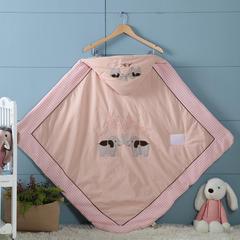 2018新款婴幼儿可爱卡通小象兄弟抱被 100*100cm 1.0m(3.3英尺)床 粉红色