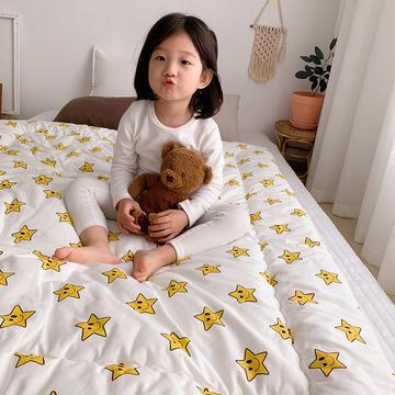 2018新款全棉儿童冬被 120x150cm3斤 小星星