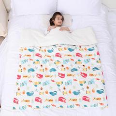2018新款婴幼儿棉纱柔肤豆豆儿童被/儿童毯 150x200cm 150x200cm 单独毯子 动物乐园