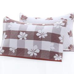 2018新款-三层加层枕巾 52*78cm/对 枫叶咖