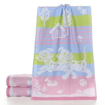 2018新款双层母子狗毛巾 粉色35*75cm