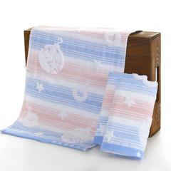 金苗毛巾生产批发纯棉可爱小毛巾双层 炸弹童巾儿童成人洁面巾 蓝色25*50cm