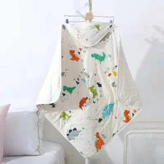 2018新款-纱布水洗棉抱被 0.9*0.9米 小恐龙
