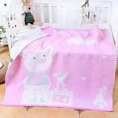 2018新款-三层夹棉童被 1.0m(3.3英尺)床 动物粉色