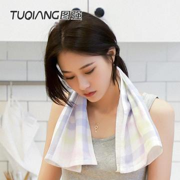2018新品图强毛巾日式纱布毛巾34*72 四色可选 绿色34*72