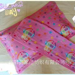 2018新款-三层纱布枕巾(75*52) 机器猫粉色