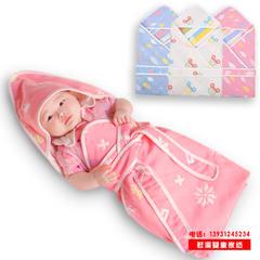 六层纯棉纱布抱被全棉婴幼儿被子90*90cm6层新生儿正方向童被代发