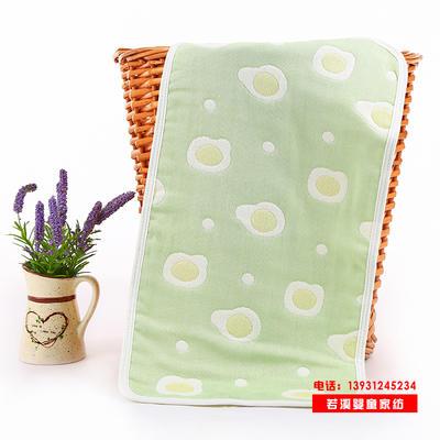 厂家直销六层纱布童巾纯棉儿童婴儿毛巾25*50cm提花洗脸巾日用品