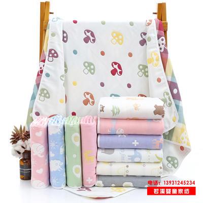 婴儿浴巾六层纱布纯棉童被80*80宝宝盖毯儿童毛巾幼儿园童婴批发