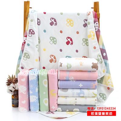 童被六层纱布纯棉婴儿浴巾110*110cm宝宝盖毯儿童毛巾被童婴批发