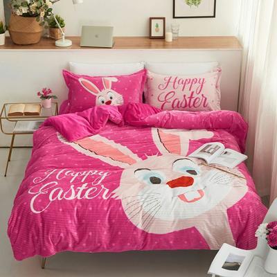 2019新款-大版卡通魔法绒水晶绒宝宝绒四件套 床单款1.8m(6英尺)床 兔子朱迪