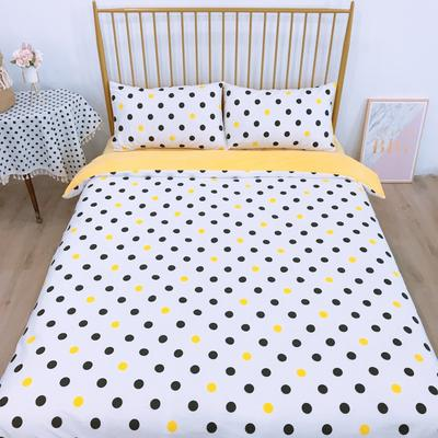 2019新款-220克市场高品质棉加绒四件套 床单款1.8m(6英尺)床 圆点