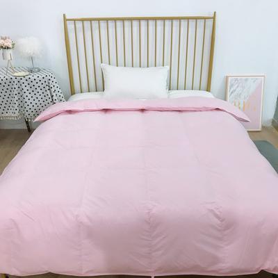 2020新款-酒店羽绒被被子被芯 200X230cm7斤 粉色