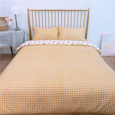 2020新款-双面用40S全棉四件套 床单款1.5m(5英尺)床 风铃花b反