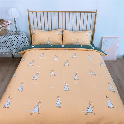 2020新款-双面用40S全棉四件套 床单款1.5m(5英尺)床 开心鸭a正