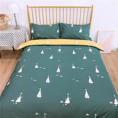 2020新款-双面用40S全棉四件套 床单款1.5m(5英尺)床 开心鸭b反