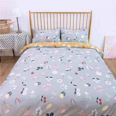 2020新款-双面用40S全棉四件套 床单款1.5m(5英尺)床 科莫花园b反