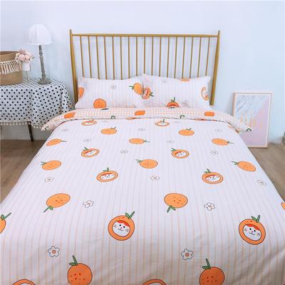 2020新款-双面用40S全棉四件套 床单款1.5m(5英尺)床 柠檬柑橘b反
