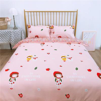 2020新款-双面用40S全棉四件套 床单款1.5m(5英尺)床 小红帽a正
