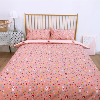 2020新款-双面用40S全棉四件套 床单款1.5m(5英尺)床 小红帽b反