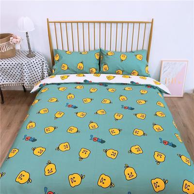 2020新款-双面用40S全棉四件套 床单款1.5m(5英尺)床 小黄鸭b反
