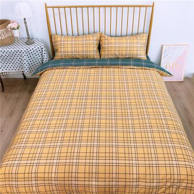 2020新款-双面用40S全棉四件套 床单款1.5m(5英尺)床 简约格b反