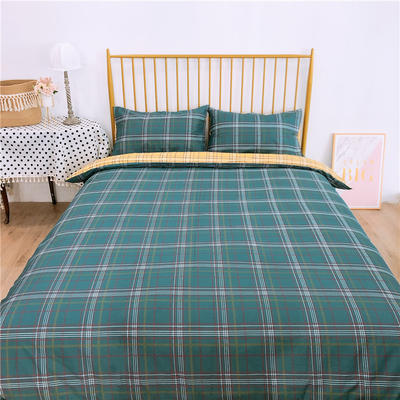 2020新款-双面用40S全棉四件套 床单款1.5m(5英尺)床 简约格a正