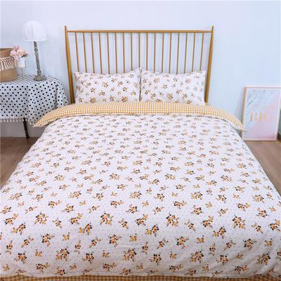 2020新款-双面用40S全棉四件套 床单款1.5m(5英尺)床 风铃花a正