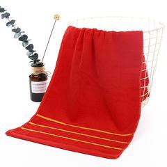 2018新款-今天乐新款全棉金边三段套巾 毛巾(33*74)浴巾(70*140)可定制logo 中国红 毛巾