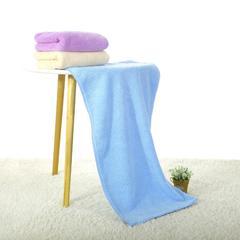 2018新款-高密珊瑚绒毛巾(35*75cm) 蓝色