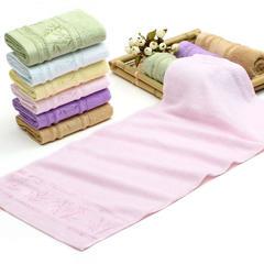 2018新款柔卡竹纤维6色竹毛巾 粉色34*75cm