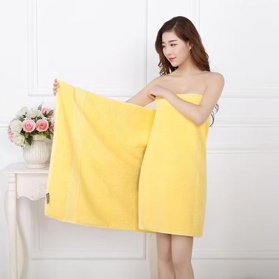 2018新款7色21股浴巾 黄色70*150cm