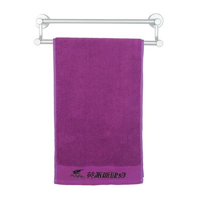 2018新款运动毛巾绣字 紫色30*100cm