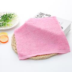 2018新款竹方巾 25*25cm 粉色