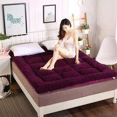 2018新款冬季保暖加厚床褥 羊羔绒床垫 0.9*2m(3英尺)床 高贵紫色