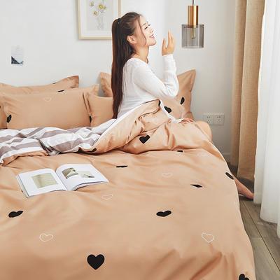 2019新品芦荟棉床单款四件套 1.2床三件套 丝丝心动