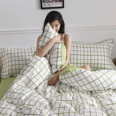 2019新品芦荟棉床单款四件套 1.2床三件套 悉尼