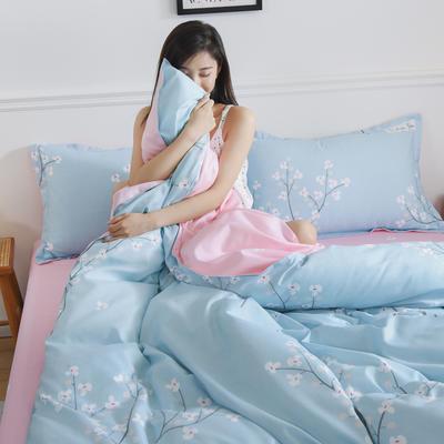 2019新品芦荟棉床单款四件套 1.2床三件套 风花雪月