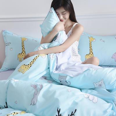 2019新款芦荟棉床单款四件套-模特图 1.2m床单款三件套 奇妙乐园