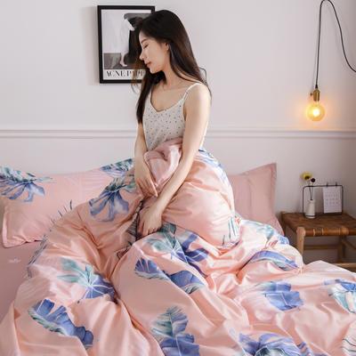 2019新款芦荟棉床单款四件套-模特图 1.2m床单款三件套 盛夏