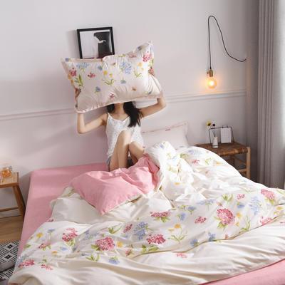 2019新款芦荟棉床单款四件套-模特图 1.2m床单款三件套 小清新