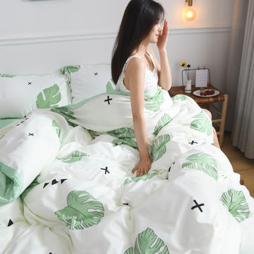 2019新款芦荟棉床单款四件套-模特图