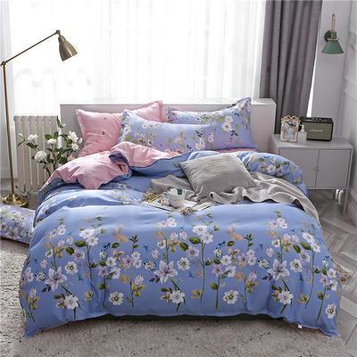 2019新款芦荟棉床单款四件套-床拍图 1.2m床单款三件套 素色雅然