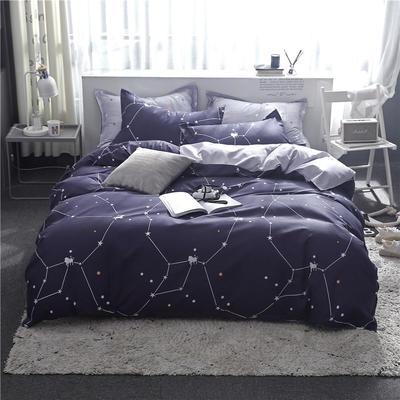 2019新款芦荟棉床单款四件套-床拍图 1.2m床单款三件套 星空