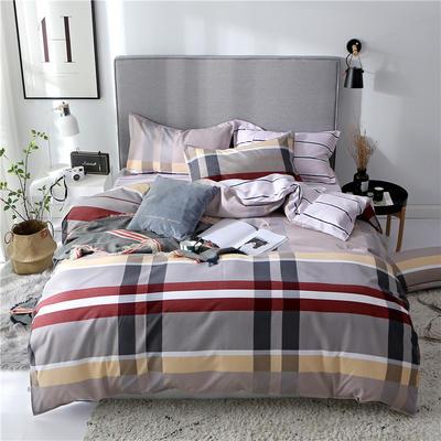 2019新款芦荟棉床单款四件套-床拍图 1.2m床单款三件套 休斯顿