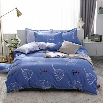 2019新款芦荟棉床单款四件套-床拍图 1.2m床单款三件套 叶脉