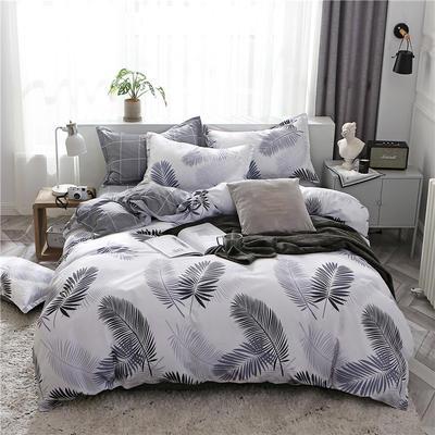 2019新款芦荟棉床单款四件套-床拍图 1.2m床单款三件套 叶羽