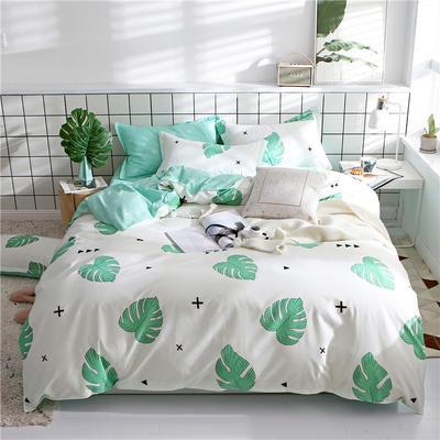 2019新款芦荟棉床单款四件套-床拍图 1.2m床单款三件套 自然风