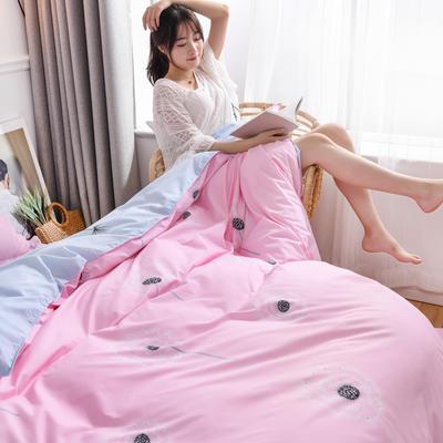 2019新款芦荟棉床单款四件套-模特图 1.2m床单款三件套 蒲公英